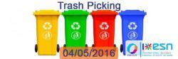 Image of Trash picking with ESN ELTE