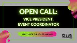Image of Coordinator Open Call - Vice President & Event Coordinator