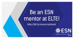 Image of Be an ESN mentor! | Legyél te is ESN mentor!